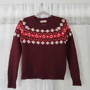 SALE- Hollister Fair Isle Sweater